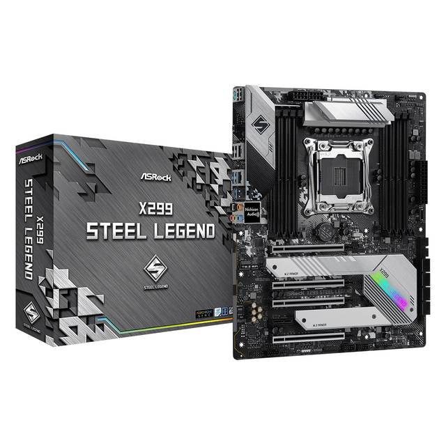 ASRock X299 STEEL LEGEND LGA2066/ Intel X299/ DDR4/ 3-Way CrossFireX & 3-Way SLI/ SATA3&USB3.2/ M.2/ ATX Motherboard
