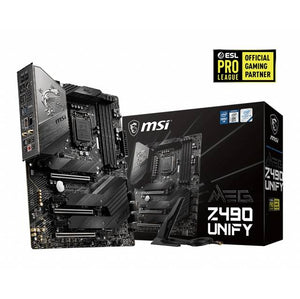 MSI MEG Z490 UNIFY LGA1200/ Intel Z490/ DDR4/ 3-Way CrossFire & 2-Way SLI/ SATA3&USB3.2/ M.2/ WiFi&Bluetooth/ ATX Motherboard