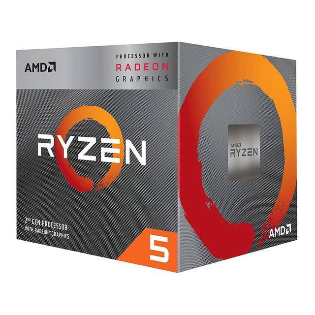 AMD YD3400C5FHBOX Ryzen 5 3400G with Radeon RX Vega 11 Graphics Quad-Core 3.7GHz Socket AM4, Retail