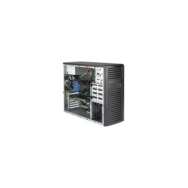 Supermicro SuperServer SYS-5039C-T LGA1151 500W Mid-Tower SuperWorkstation Barebone System (Black)