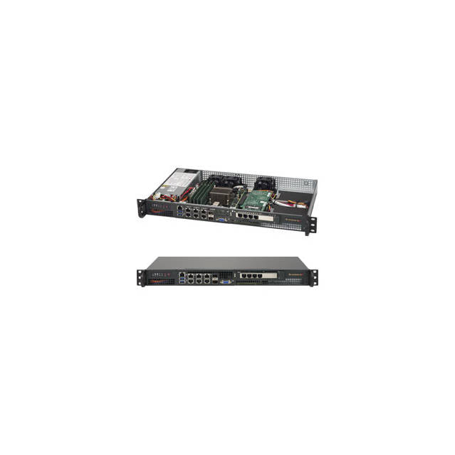 Supermicro SuperServer SYS-5018D-FN8T Intel Xeon D-1518 200W 1U Rackmount Server Barebone System (Black)