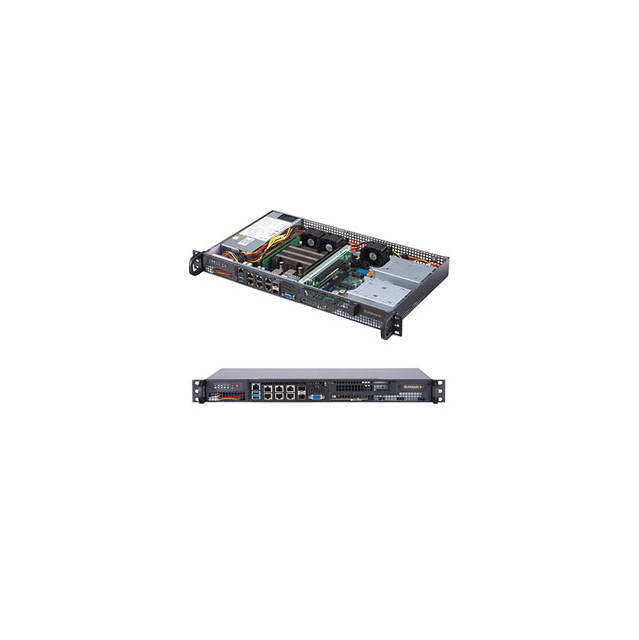 Supermicro SuperServer SYS-5019D-FN8TP 200W 1U Rackmount Server Barebone System (Black)
