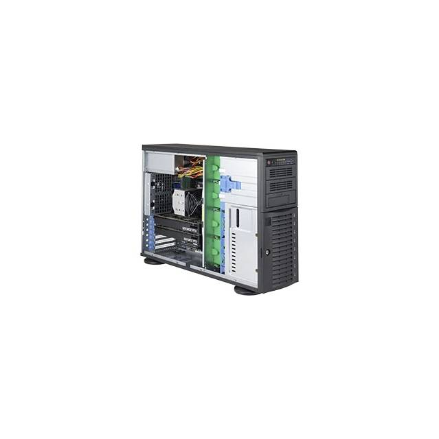 Supermicro SuperWorkstation SYS-5049A-T Single LGA3647 1200W 4U Rackmount/Tower Workstation Barebone System (Black)