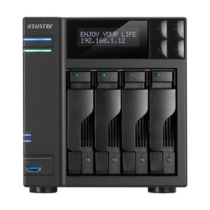 ASUSTOR AS6404T Intel Celeron J3455 1.5GHz/ 8GB DDR3L/ 2GbE/ USB3.0/ 4-bay Desktop NAS