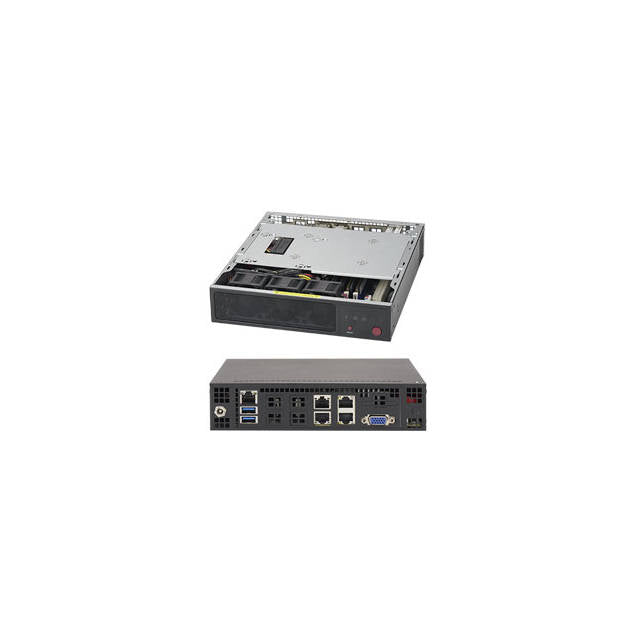 Supermicro SuperServer SYS-E200-8D FCBGA 1667 Mini-1U Server Barebone System (Black)