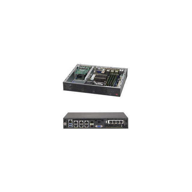 Supermicro SuperServer SYS-E300-8D FCBGA 1667 Mini-1U Server Barebone System (Black)