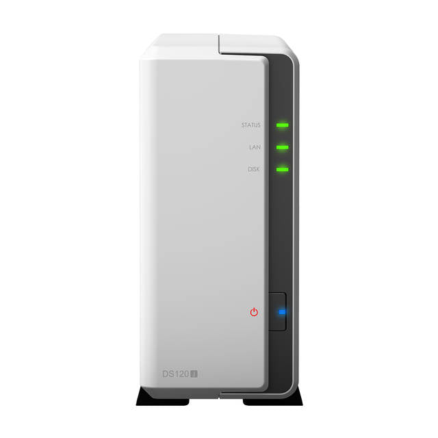 Synology DiskStation DS120J 1-Bay Desktop NAS for Home & SOHO