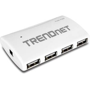 TRENDnet 7-Port USB 2.0 Hub w/ Power Adapter