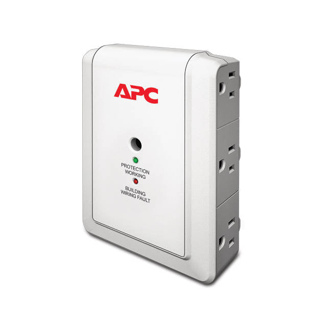 APC P6W Essential SurgeArrest 6-Outlet 120V Wall Mount