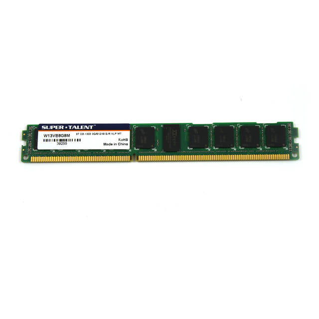 Super Talent DDR3-1333 8GB/512x8 ECC/REG CL9 Very Low Profile Server Memory