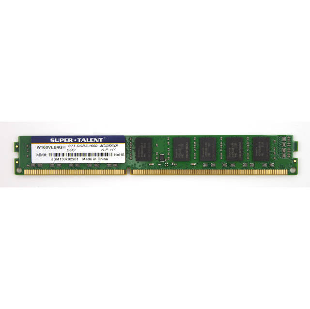 Super Talent DDR3-1600 4GB/256Mx8 ECC Hynix Chip Very Low Profile Server Memory