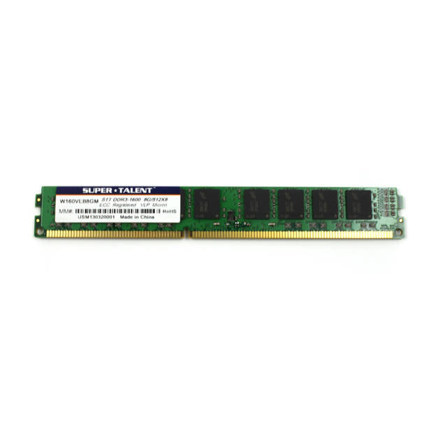 Super Talent DDR3-1600 8GB/1Gx72 ECC Micron Chip Very Low Profile Server Memory