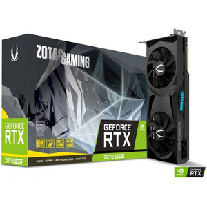 ZOTAC NVIDIA GeForce RTX 2070 Super Twin Fan 8GB GDDR6 HDMI/3DisplayPorts / PCI-E 3.0 Video Card