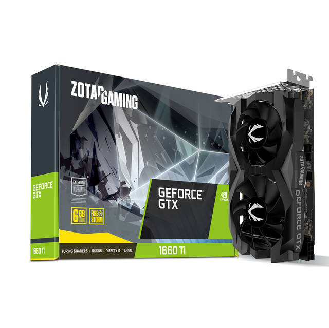 ZOTAC NVIDIA GeForce GTX 1660 Ti Twin Fan 6GB GDDR6 HDMI/3DisplayPorts PCI-Express Video Card
