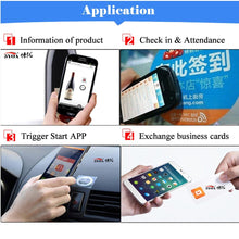 Load image into Gallery viewer, 100pcs/lot NFC Tag NFC213 Label 213 Stickers Tags Badges Lable Sticker 13.56mHz huawei share ios13 personal automation shortcuts