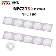 Load image into Gallery viewer, 10pcs NFC Tag NFC213 Label 213 Stickers Tags Badges Lable Sticker 13.56mHz for huawei share ios13 personal automation shortcuts