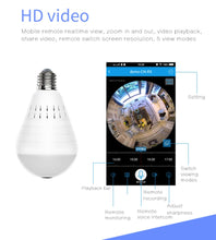 Load image into Gallery viewer, Camera Smart light bulb 360 Wifi Panoramic OOBEST