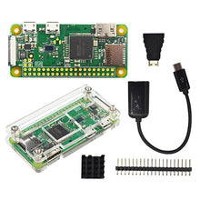 Load image into Gallery viewer, Raspberry Pi Zero W Starter Kit+ Acrylic Case + Heat Sink +2 x 20 pin GPIO Header better