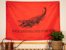 Load image into Gallery viewer, Fuck Around And Find Out Indoor Wall Flag Red