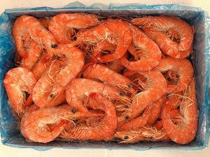 Prawns - w/head & shell, cooked
