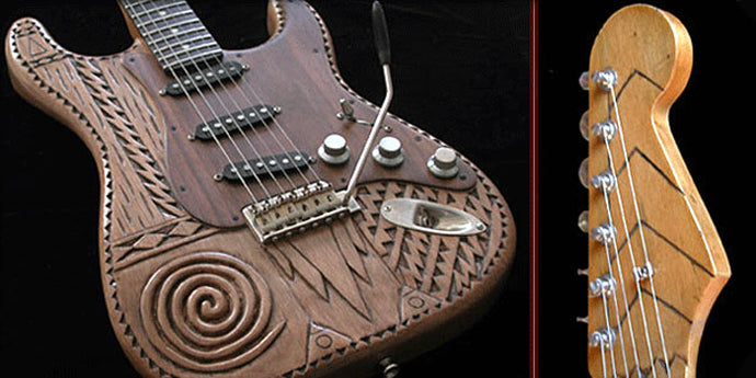 Verrilli Spiral Hand Carved Guitar