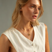 Sample sale - clover necklace