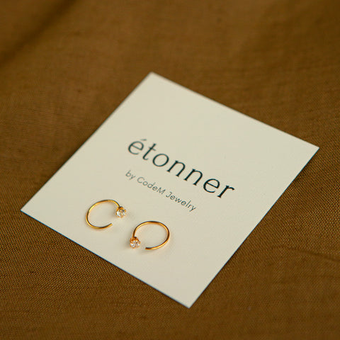 "Earrings ""Halley gold"""