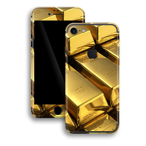 iPhone 7 Print Custom Signature 24K Gold Golden Skin Wrap Decal by EasySkinz