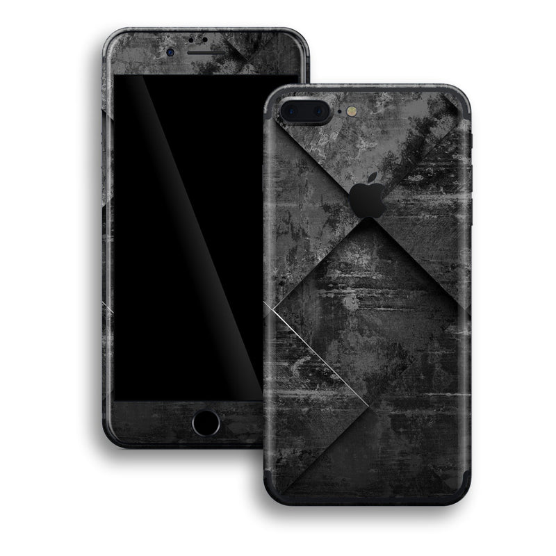 iPhone 7 PLUS Print Custom Signature Black Tiles Skin Wrap Decal by EasySkinz
