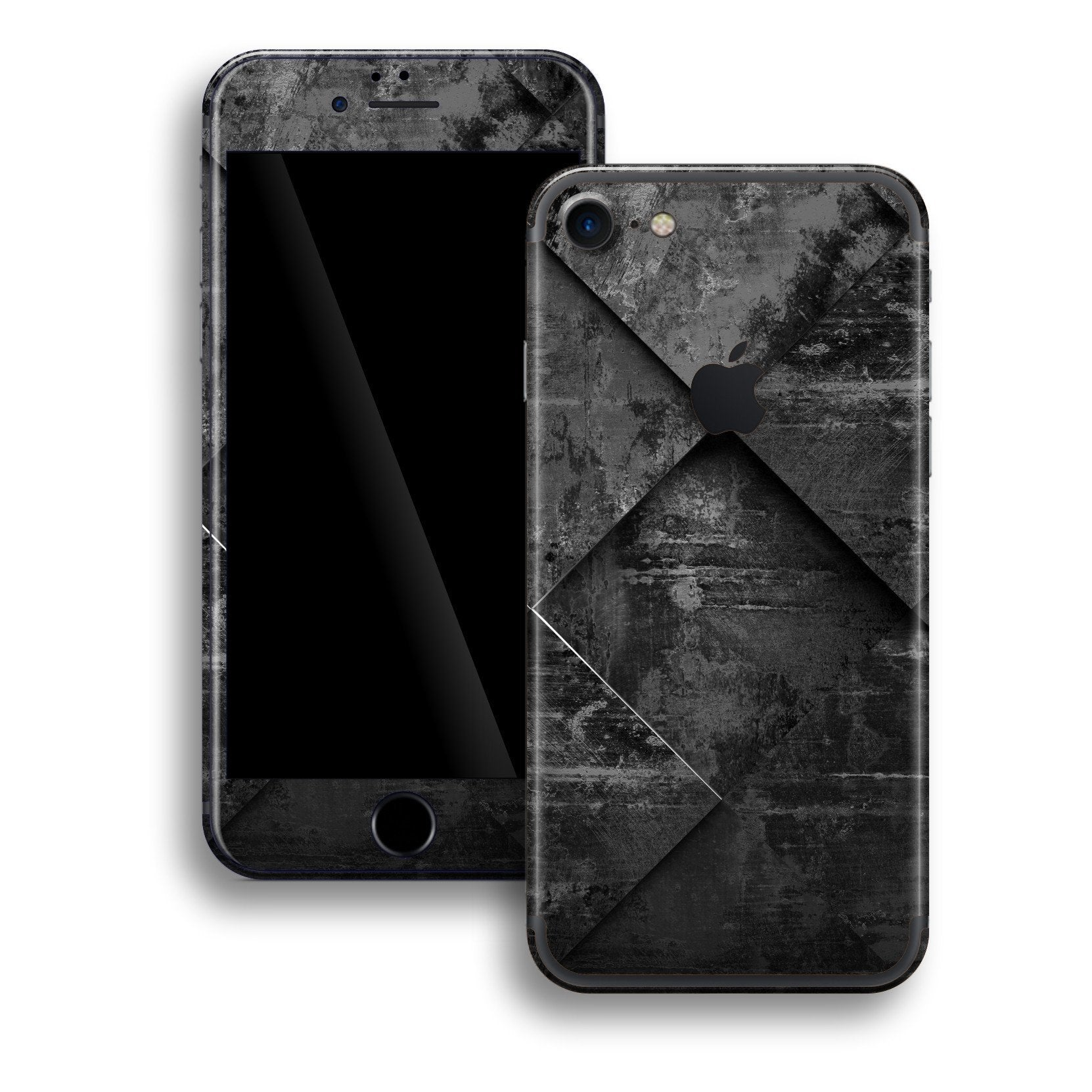 iPhone 8 Print Custom Signature Black Tiles Skin Wrap Decal by EasySkinz