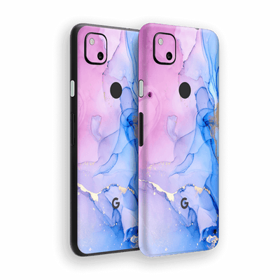 Google Pixel 4a Print Printed Custom SIGNATURE AGATE GEODE Pink-Blue Skin Wrap Sticker Decal Cover Protector by EasySkinz