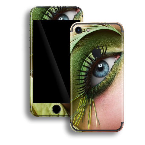 iPhone 7 Print Custom Signature Blue Eye Skin Wrap Decal by EasySkinz