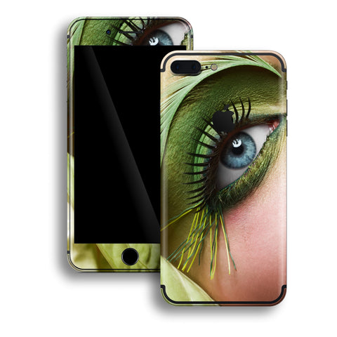 iPhone 7 PLUS Print Custom Signature Blue Eye MakeUp Skin Wrap Decal by EasySkinz
