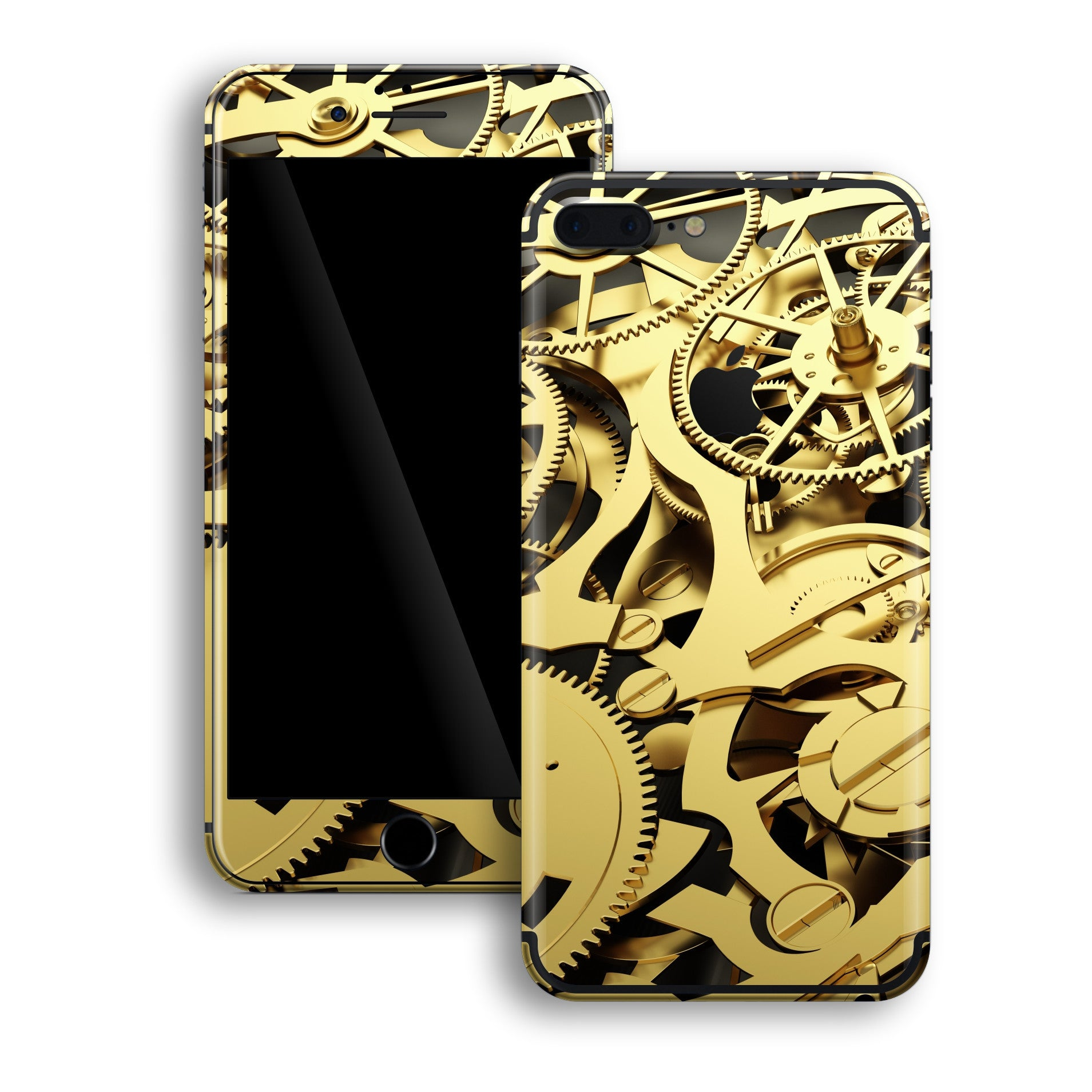 iPhone 7 PLUS Print Custom Signature Gold Mechanism Skin Wrap Decal by EasySkinz