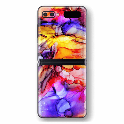 Samsung Galaxy Z Flip Print Printed Custom SIGNATURE Murano Painting Skin Wrap Sticker Decal Cover Protector by EasySkinz