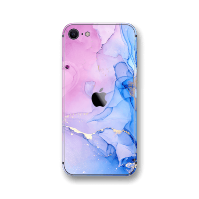 iPhone SE (2020) SIGNATURE AGATE GEODE Pink-Blue Skin, Wrap, Decal, Protector, Cover by EasySkinz | EasySkinz.com