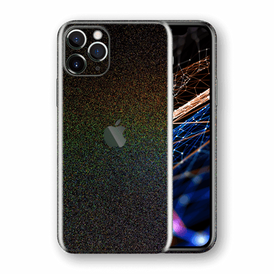 iPhone 11 PRO Glossy GALAXY Black Milky Way Rainbow Sparkling Metallic Skin Wrap Sticker Decal Cover Protector by EasySkinz