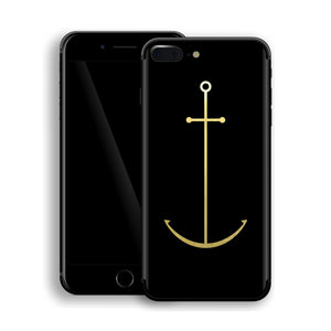 iPhone 8 Plus Anchor Custom Design Matt Black Skin Wrap Decal Protector Cover | EasySkinz