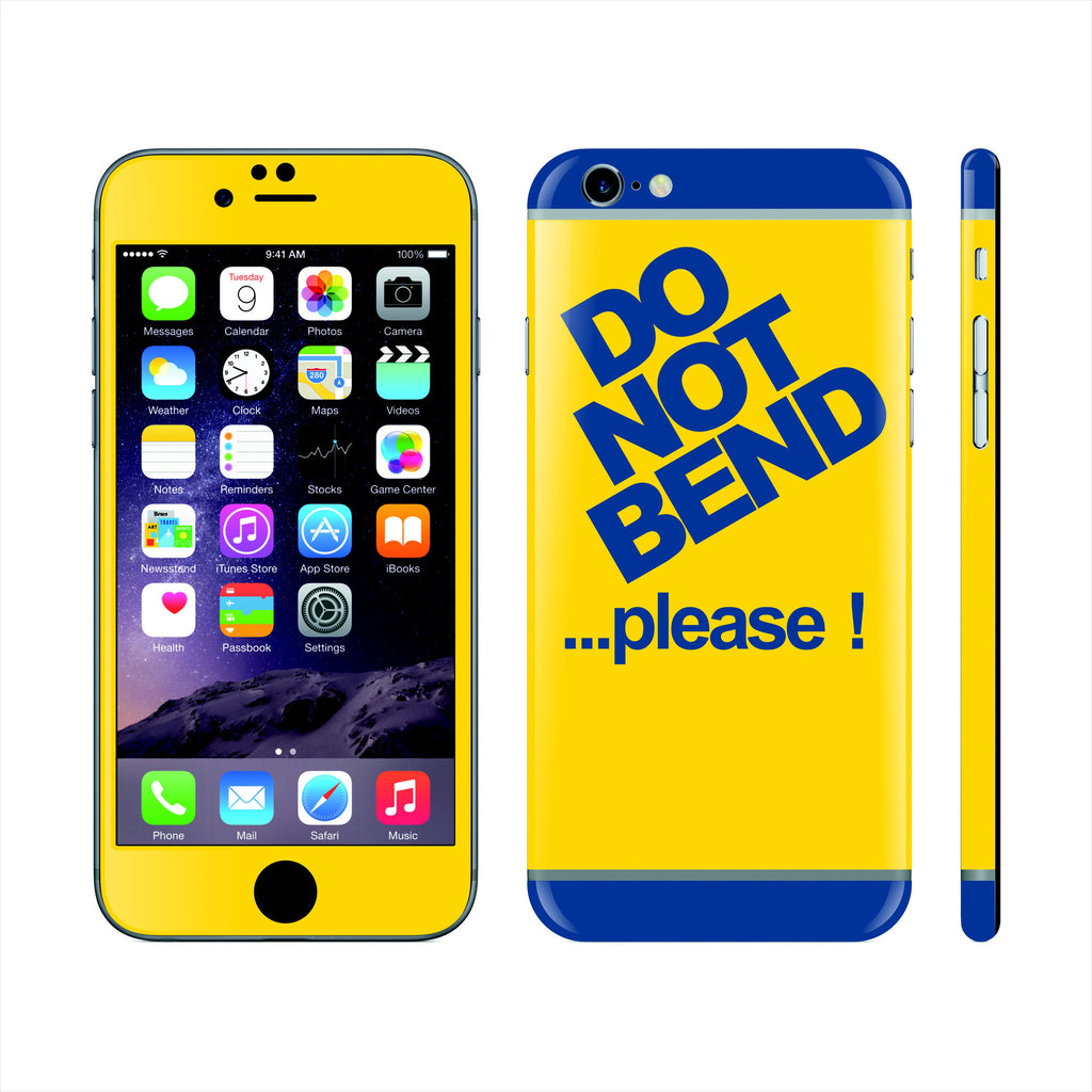 iPhone 6 Custom Colorful Design Edition Do not bend 011 Skin Wrap Sticker Cover Decal Protector by EasySkinz