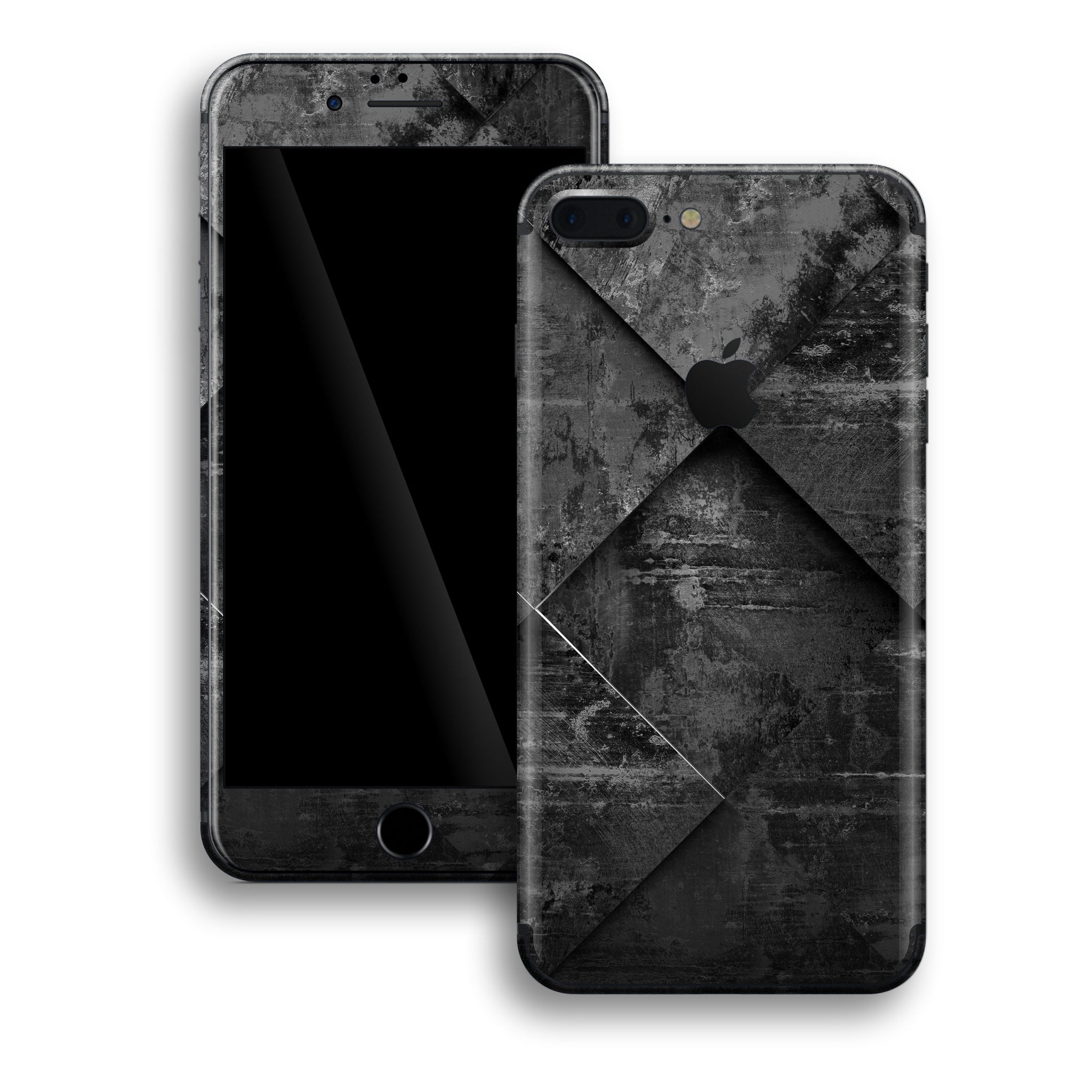 iPhone 8 PLUS Print Custom Signature Black Tiles Skin Wrap Decal by EasySkinz
