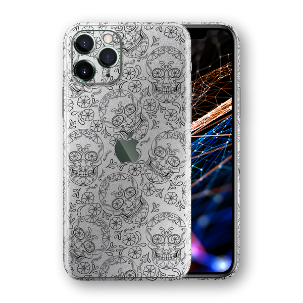 iPhone 11 PRO Print Printed SIGNATURE Calavera Sugar Skull Skin, Wrap, Decal, Protector, Cover by EasySkinz | EasySkinz.com
