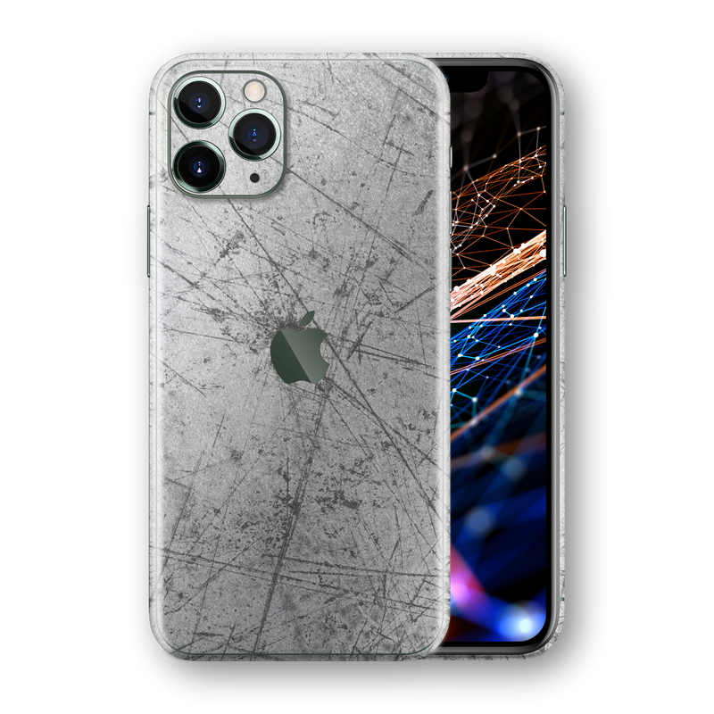 iPhone 11 PRO MAX Print Printed SIGNATURE Aluminium Scratched Plate Skin, Wrap, Decal, Protector, Cover by EasySkinz | EasySkinz.com