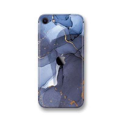 iPhone SE (2020) SIGNATURE AGATE GEODE Pigeon Blue-Gold Skin, Wrap, Decal, Protector, Cover by EasySkinz | EasySkinz.com