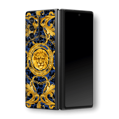 Samsung Galaxy Z Fold 2 Print Printed Custom SIGNATURE Golden Luxuriousness Skin, Wrap, Decal, Protector, Cover by EasySkinz | EasySkinz.com