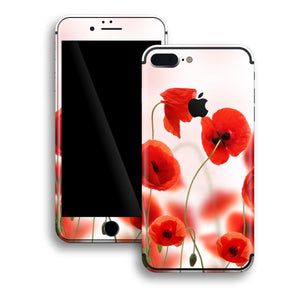 iPhone 7 PLUS Print Custom Signature Poppies Skin Wrap Decal by EasySkinz