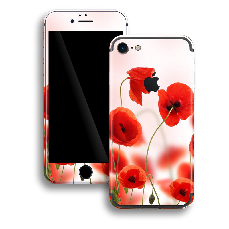 iPhone 7 Print Custom Signature Poppies Skin Wrap Decal by EasySkinz