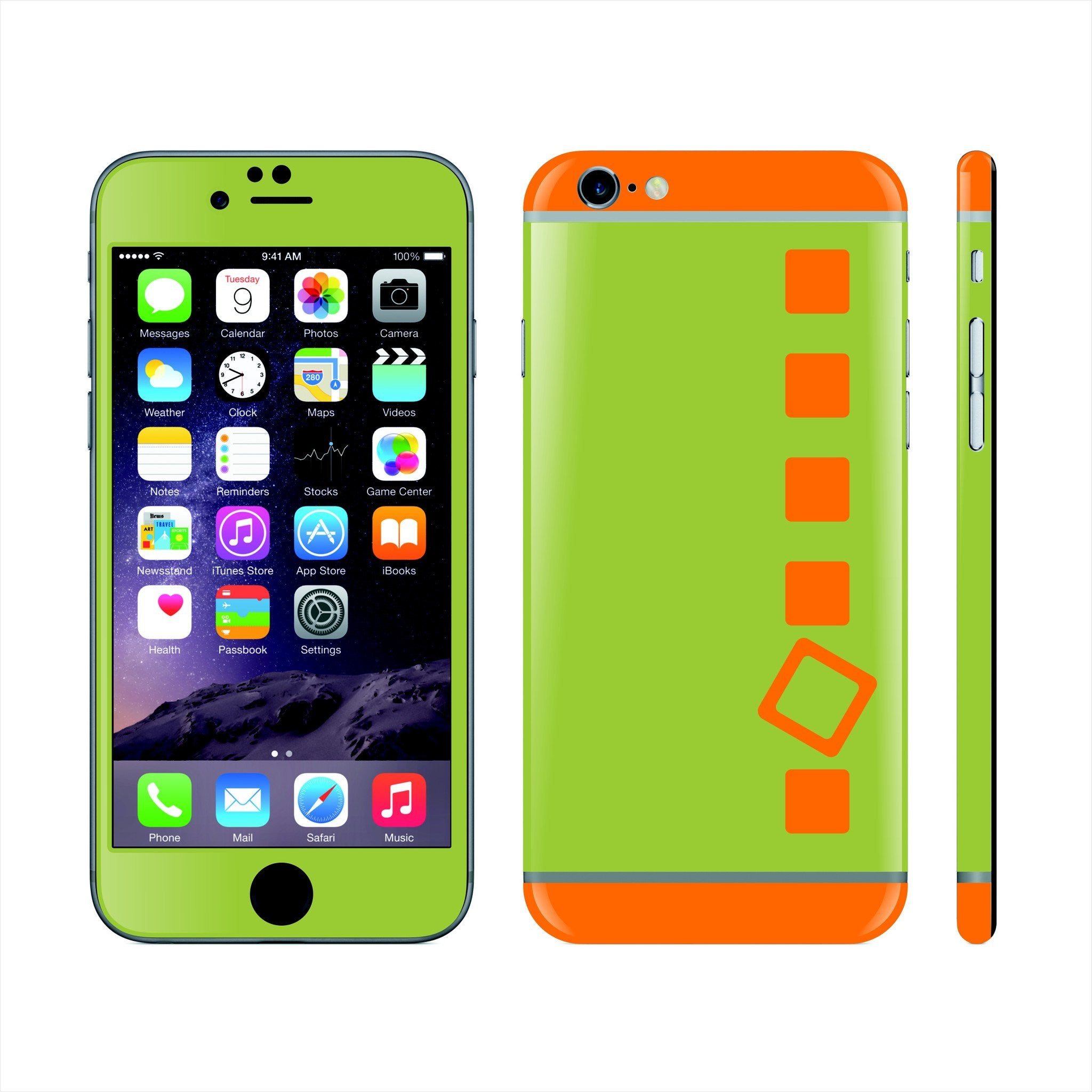 Iphone 6s custom colorful design edition abstract cubes 013 skin wrap sticker cover decal protector by
