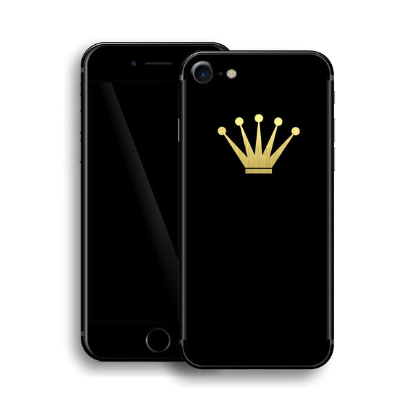 iPhone 8 Crown Custom Design Matt Black Skin Wrap Decal Protector Cover | EasySkinz
