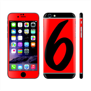 iPhone 6 Custom Colorful Design Edition  '6' 014 Skin Wrap Sticker Cover Decal Protector by EasySkinz