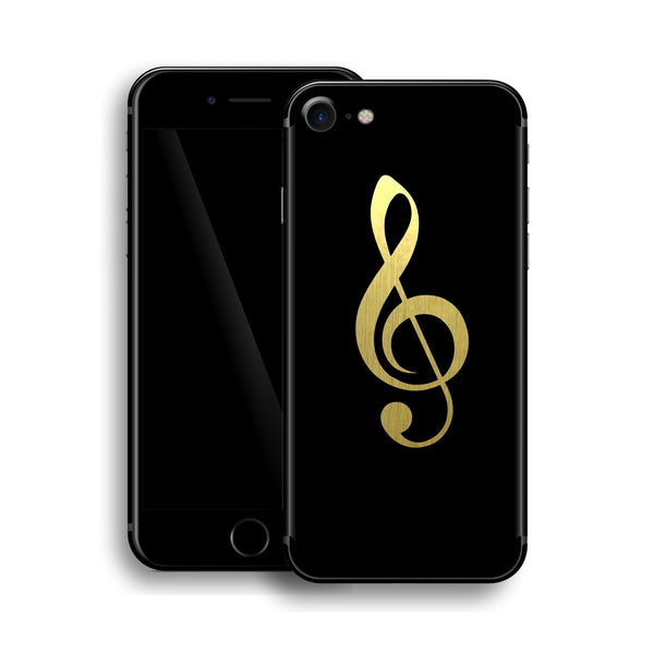 iPhone 8 Music Custom Design Matt Black Skin Wrap Decal Protector Cover | EasySkinz